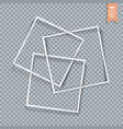 collection of paper corners frames and edges vector image vector image