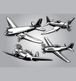 collection of world war 2 military aircraft vector image vector image