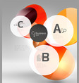 colorful glossy circle infographics vector image vector image