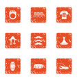 contemporary person icons set grunge style vector image