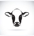 cow face design on white background farm animal vector image vector image