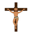 crucified jesus cartoon vector image