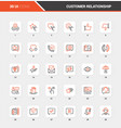 customer relationship management flat line icons vector image vector image