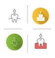 dental extraction icon vector image vector image