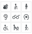 Disability Icon collection vector image