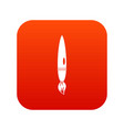 drawing brush icon digital red vector image