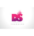 ds d s letter logo with pink purple color and vector image vector image