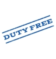 Duty Free Watermark Stamp vector image vector image