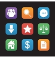 E-commerce and marketing flat design icons set vector image vector image