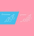 estrogen and testosterone hormones symbol sex vector image vector image