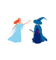 fairy and sorceress flat vector image