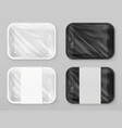 food polystyrene packaging white and black 3d vector image
