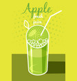 fresh apple juice leaflet banner vector image