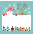 Funny deer and santa claus vector | Price: 3 Credits (USD $3)