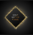 gold glitter frame vector image vector image