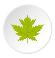 green currant leaf icon circle vector image vector image