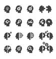 head concept icon vector image vector image