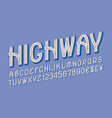 highway letters with numbers and currency signs vector image vector image