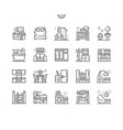 home room types well-crafted pixel perfect vector image