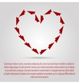 I love you Paper airplane Valentines Day vector image