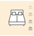 icon of bed vector image vector image