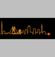 johannesburg light streak skyline vector image vector image