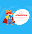 join us for a superhero party invitation card vector image vector image