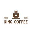 king coffee vintage logo design inspiration in vector image vector image