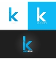 letter K logo design icon set background vector image vector image