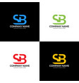 letter sb logo icon flat vector image vector image