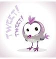 Little comic tweetting bird vector image vector image
