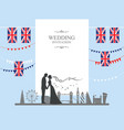 london wedding banner vector image vector image