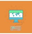 modern online shop background vector image vector image