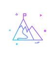 mountain flag icon design vector image