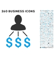Person Expenses Icon with Flat Set vector image