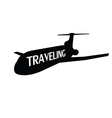 plane traveling vector image vector image