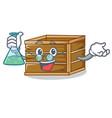 professor crate character cartoon style vector image vector image