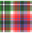 red green color check seamless fabric texture vector image vector image
