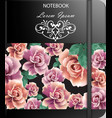 rose flowers background template realistic vector image vector image