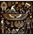 set isolated egypt symbols vector image