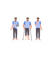 set man with injuries fracture leg arm and neck vector image
