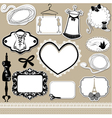 Set of frames symbols tools and accessories vector image