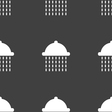 shower icon sign Seamless pattern on a gray vector image vector image