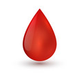 single blood drop isolated on white background vector image vector image