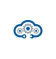 sky fix and repair logo icon design vector image