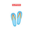 slippers flat icon vector image vector image