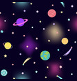 space seamless pattern for textile prints vector image