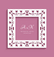 square frame with cutout border pattern vector image vector image