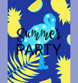 summer party night dance poster template with vector image