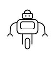 Symbol of Personal Droid Thin line Icon of Future vector image